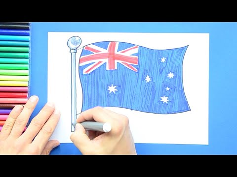 How To Draw The National Flag Of Australia