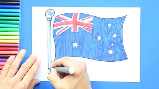 How to draw and color the National Flag of Australia