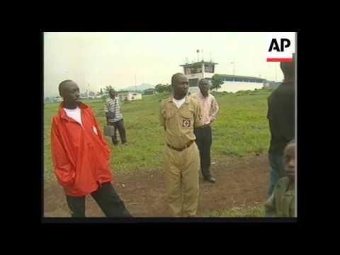 Burning lava in Goma plus locals fleeing to Rwanda