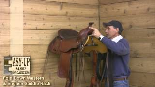 Easy-up Fold Down Western & English Saddle Rack