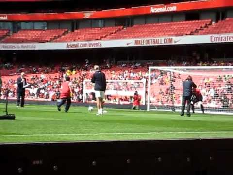 Arsenal Members Day 2010. Penalty against Manuel Almunia.