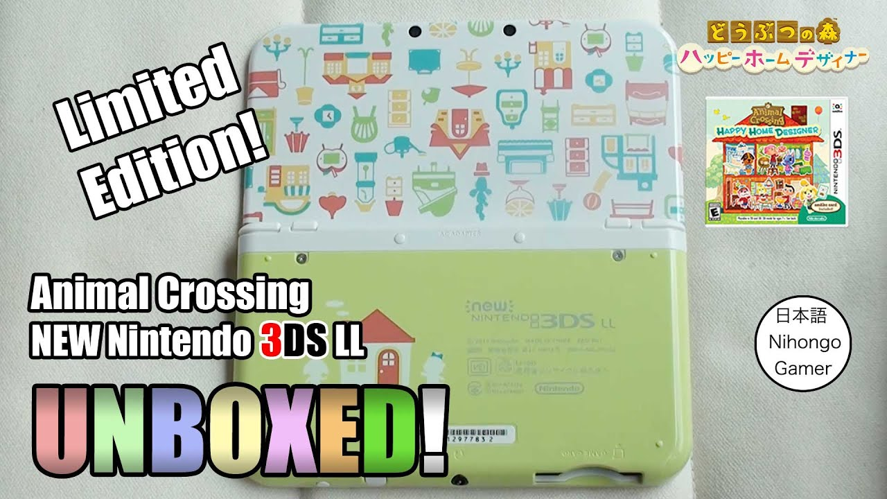 Animal Crossing Ltd Edition New 3ds Xl Console World 1st Unboxing Youtube