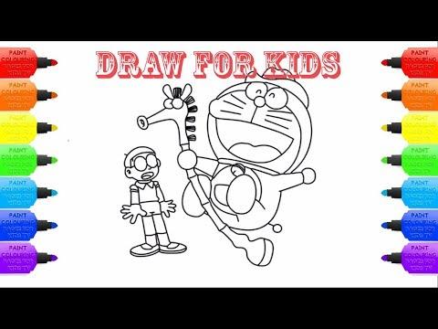Vẽ Doremon Và Nobita Hài Hước Ii Dạy Bé Vẽ Và Tô Màu Ii Painting And