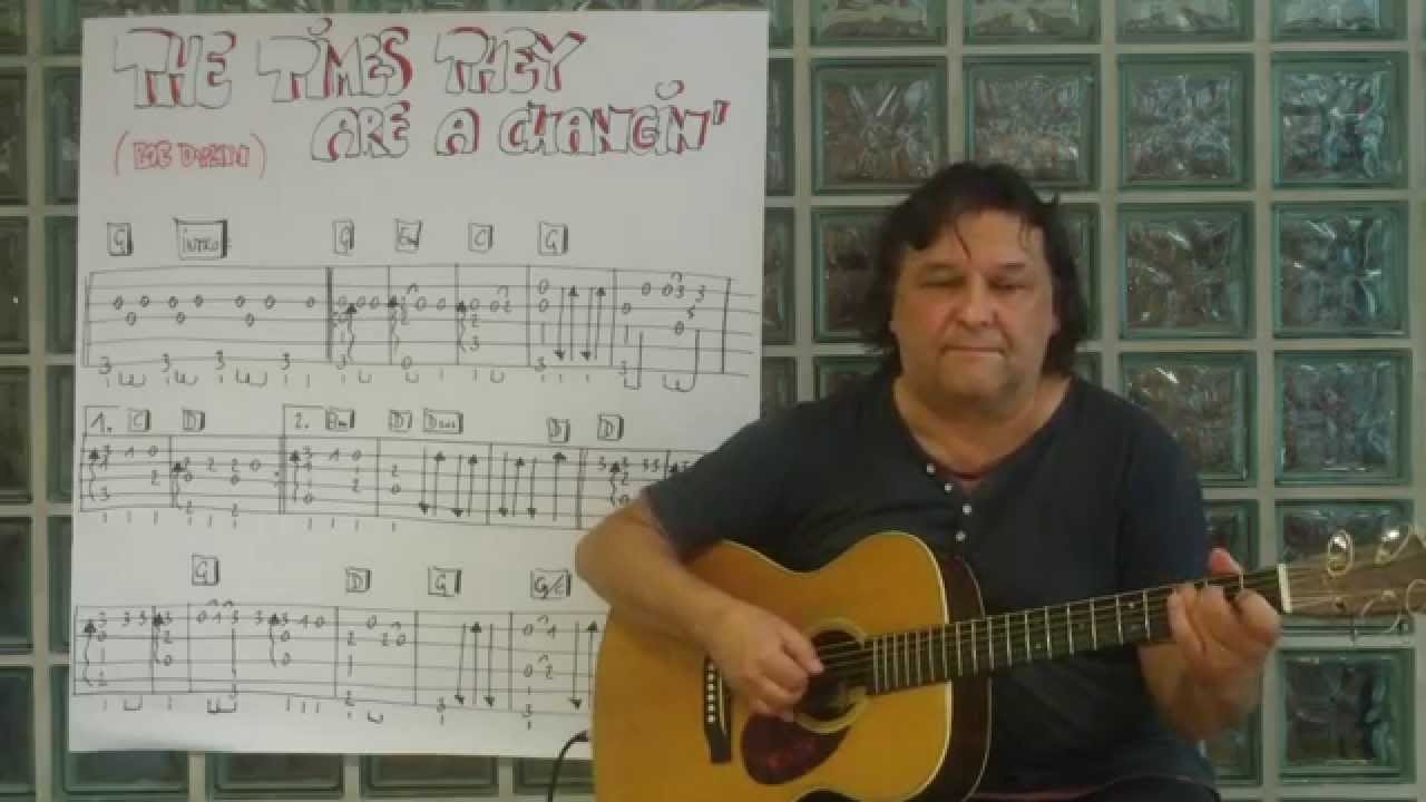 Fingerstyle guitar lesson 34 the times they are a changin bob fingerstyle guitar lesson 34 the times they are a changin bob dylan youtube hexwebz Images