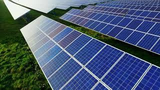 UK Solar Farm From The Sky 2019