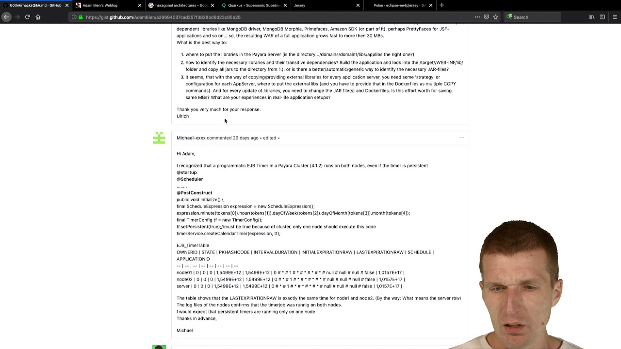 DB Load Balancing, Java EE Authentication, Unikernels, Lazy Entity