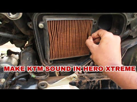 Make ktm sound without remove filter its good trick for hero xtreme bike