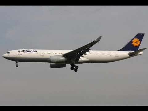 Lufthansa Airbus A330 Landing in Malabo  Equatorial Guinea Runway 22