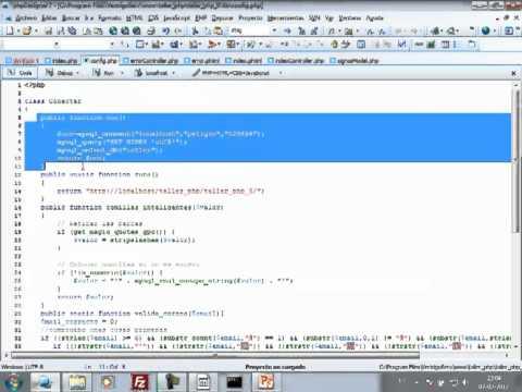 VideoTutorial 8 del Taller Práctico de PHP y MySQL