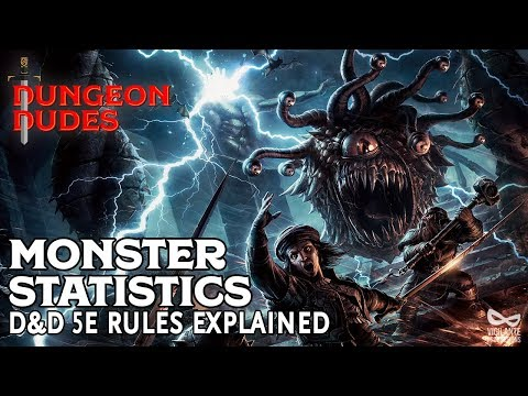 Monster Statistics Explained For Dungeons And Dragons 5e