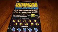 **NEW** $50 ULTIMATE MULTIPLIER MADNESS Stats and Scratch Hoosier Lottery Scratch Off