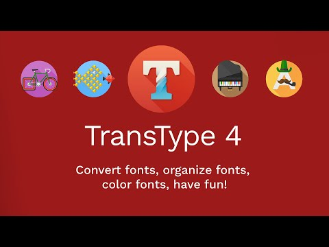 Convert legacy Type 1 fonts to modern OpenType with TransType 4