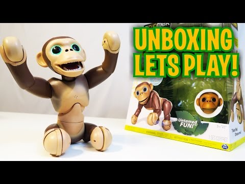 Unboxing & Let's Play - ZOOMER CHIMP - Robot Monkey - Fun Toy like Cozmo!