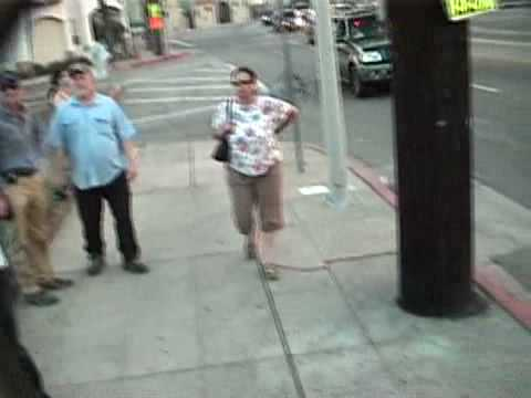 part 1 of 2 Scientologist Patty stalking peaceful protesters