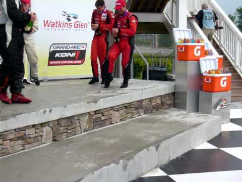Dion von Moltke - Champagne Flows in Victory Celebration at Watkins Glen