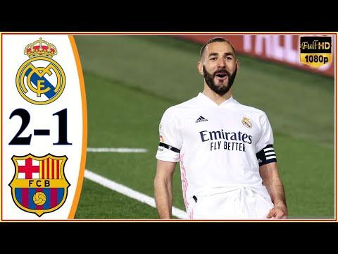 Real Madrid vs Barcelona 2-1   All Goals & Highlights - 2021