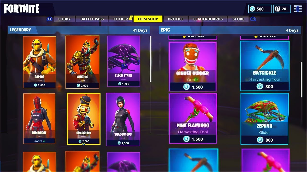 how to view all items in the fortnite battle royale item shop - fortnite item shop upcoming