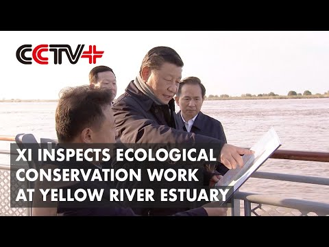 CCTV+: Prezident Si přijel zkontrolovat ekologické práce na...