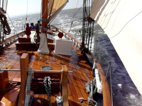 "Bristol Channel Pilot Cutter ""Morwenna"" on her maiden voyage"