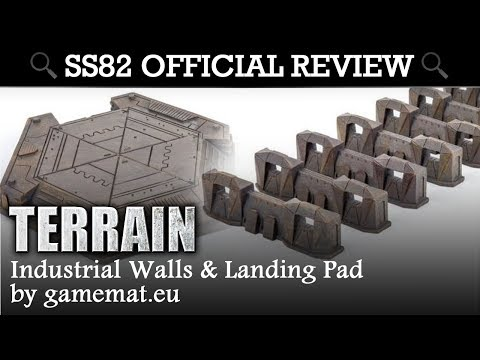 SS82 OFFICIAL REVIEW: Industrial Landing Pad & Walls by Gamemat.eu
