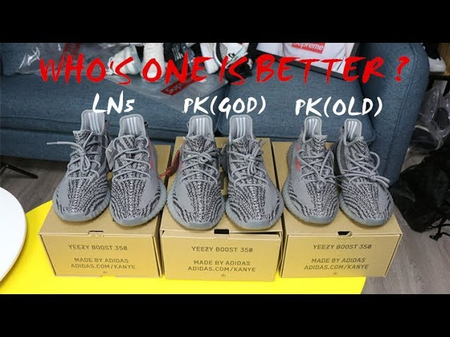 The LN5 and PK Yeezy 350 V2 Comparsion