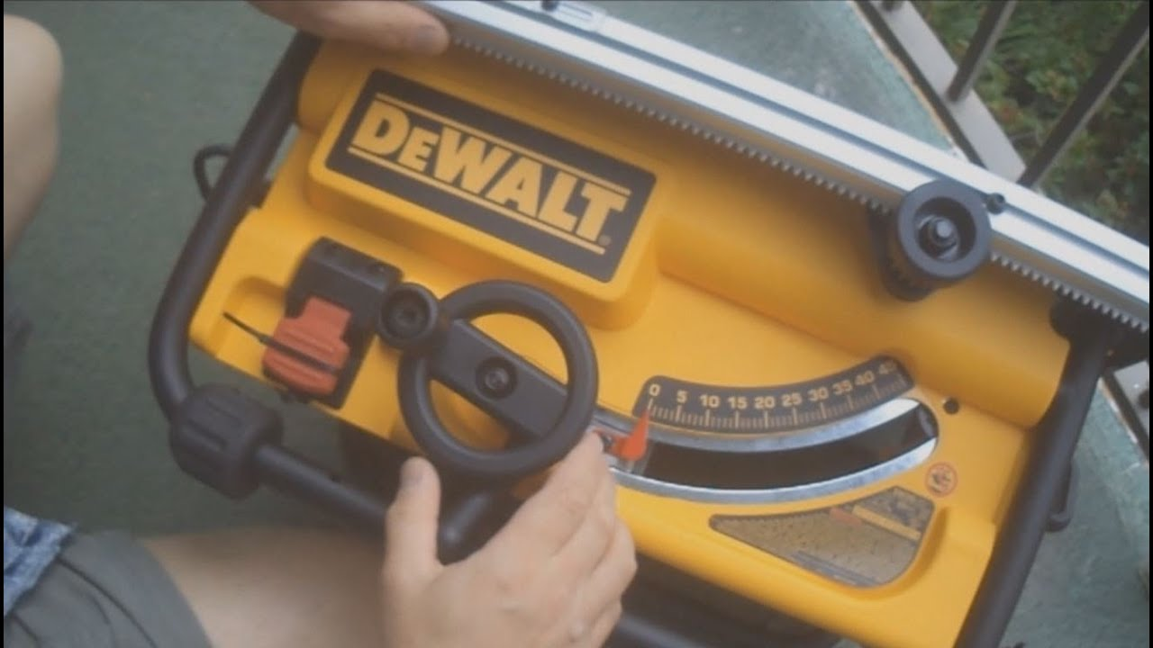 Dewalt compact table saw dw745 how to set up and use youtube greentooth