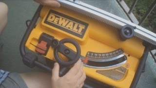 Dewalt Compact Table Saw (dw745) How To Set Up And Use