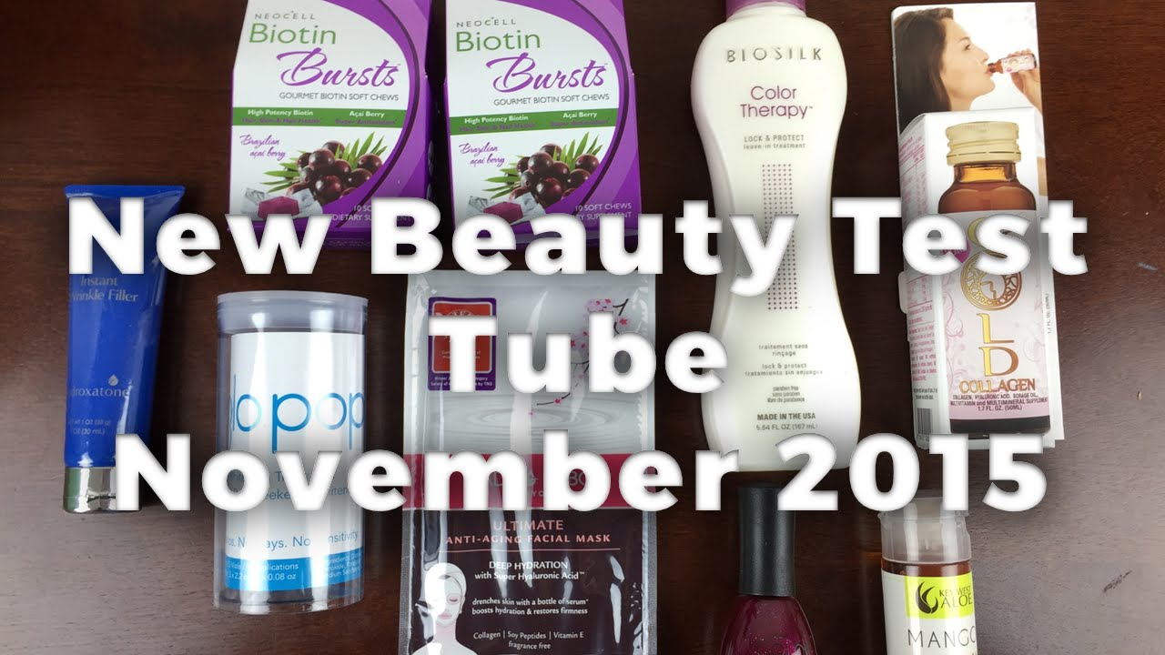 New Beauty Test Tube Unboxing - November 2015 + Coupon Code