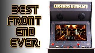 CoinOPS NEXT on Legends Ultimate Arcade Cabinet through ArcadeNetLink
