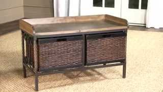 Noah Wooden Storage Bench Amh6528a