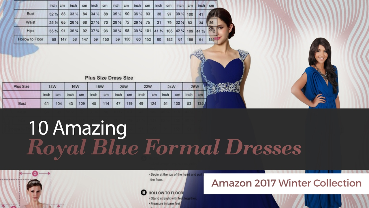 10 amazing royal blue formal dresses amazon 2017 winter collection