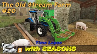 Gambar cover Animal care, working with contracts | The Old Stream Farm with Seasons #20 | FS19 Timelapse | 4K
