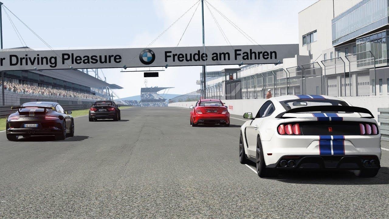 Mustang Shelby Gt 350r Vs Bmw M4 Gts Vs Porsche 911 Gt3 Vs Mercedes C63 Amg At N 252 Rburgring