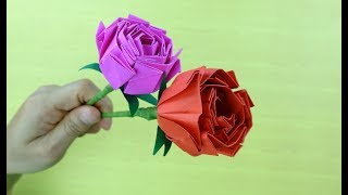 How To Make Rose Paper Flower , Valentine gifts