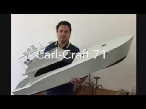 """Sport Fishing RC Boat, Carl-Craft 71', scale 1/15, 57"""", part 1 - YouTube"""