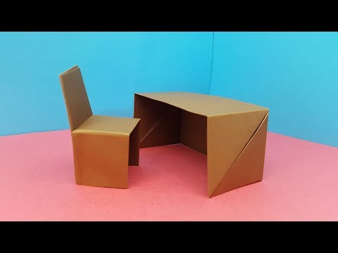 Origami Table and Chair - How to make Paper Furniture