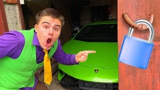 Red Man locked Garage on LOCK VS Mr. Joe on Lamborghini in Underground Parking VS Yellow Man 13+