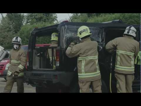 VOSA destroys Hummer H2 and Range Rover Limousines