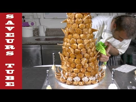 How to make a Croque en bouche Wedding cake with Julien from Saveurs Dartmouth U.K.