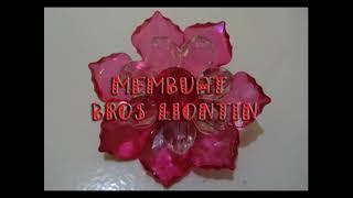 tutorial membuat bros liontin dari mute manik akrilik / acrylic