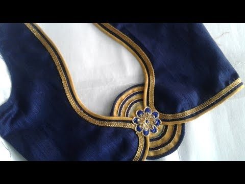 simple designer blouse cutting and stitching