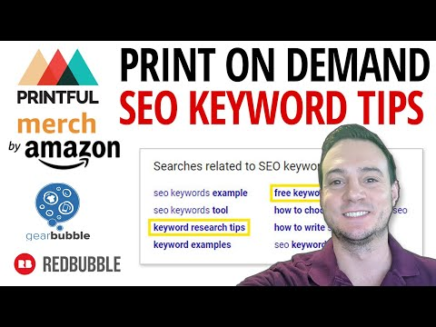Print On Demand SEO Keyword Research Tips 🌐 * New 2019 *