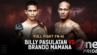 Begitu Sengit! 😵 Billy Pasulatan vs Brando Mamana | Full Fight One Pride MMA FN 41