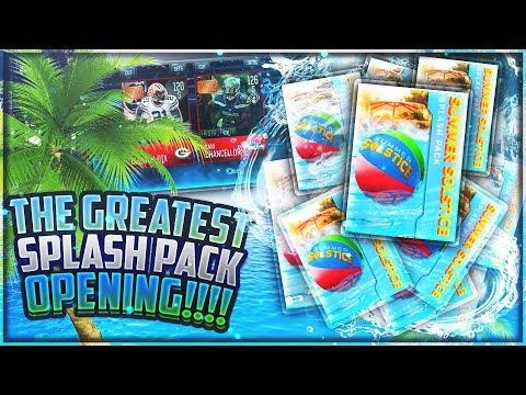 WORLD'S BIGGEST SPLASH PACK OPENING!? GOLDEN TICKETS INSIDE? - Madden Mobile 18