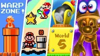 Evolution of Super Mario Warp Zones (1985 - 2018)
