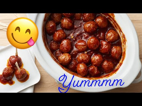 How to make bbq meatballs in slow cooker