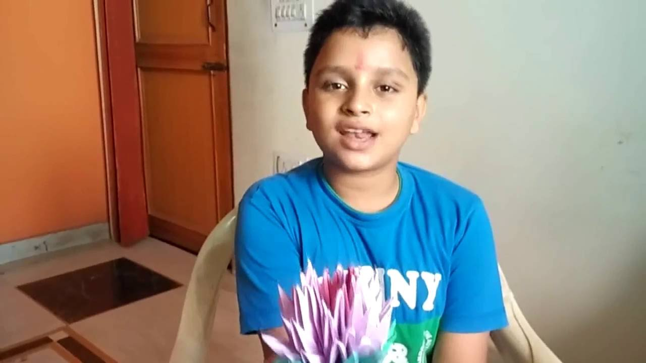 How to make lotus flower with simple paper nishit malkania youtube how to make lotus flower with simple paper nishit malkania izmirmasajfo