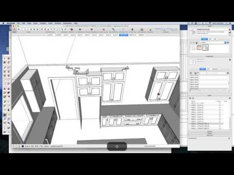 SketchUp Layout Kitchen Tutorial Narrated A2 V2 by KBCD