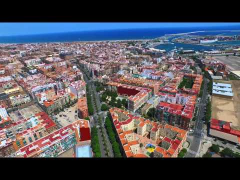 Drone valencia city