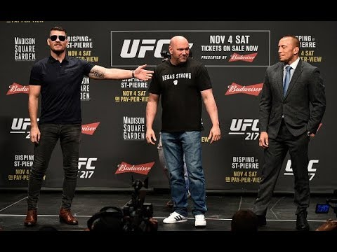 Download Youtube: UFC 217: Bisping vs St-Pierre Toronto Press Conference
